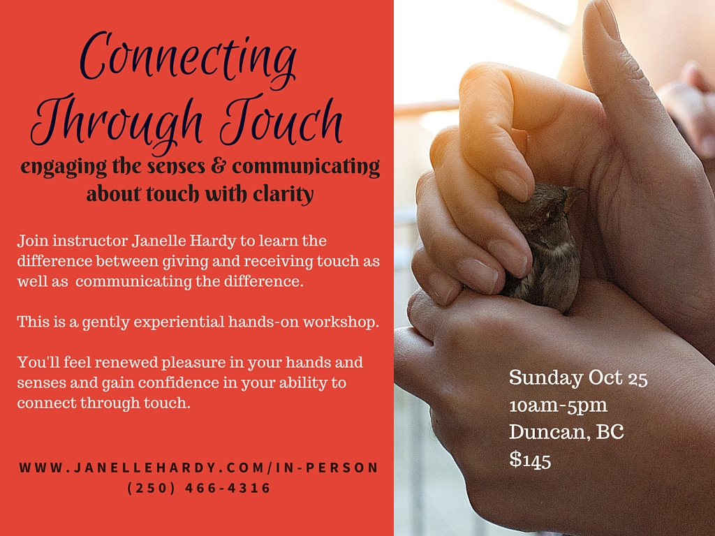 connecting through touch oct 2015 Poster