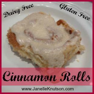 cinnamon rolls, Gluten&Dairy Free, JanelleKnutson.com