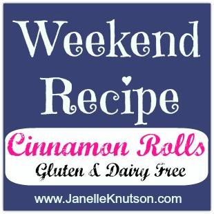 cinnamon rolls, gluten&dairy free, weekend recipe @ JanelleKnutson.com