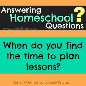 when do you find the time to plan lessons