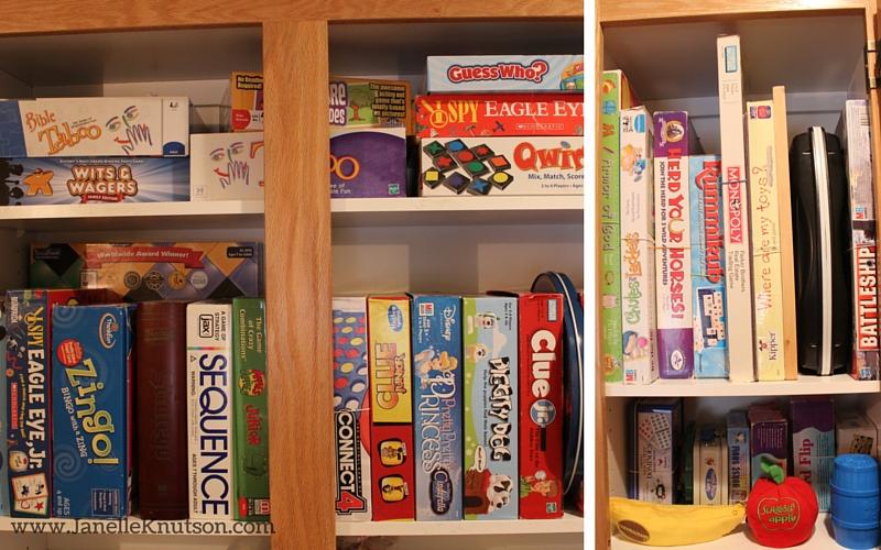 vertical storage board games
