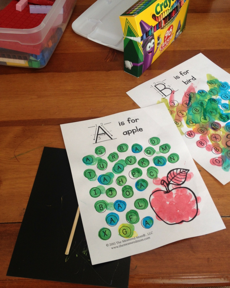 Keeping the toddler busy while I homeschool the older kids