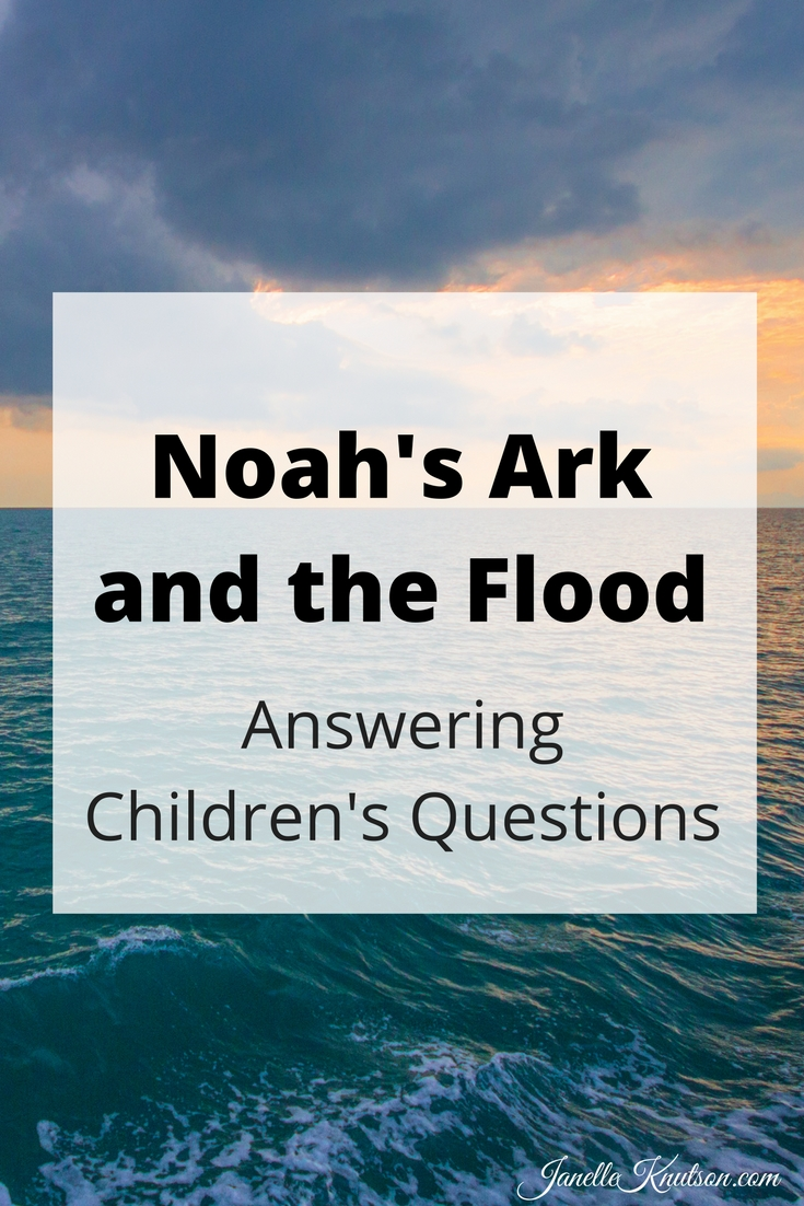 Find answers to your children's questions about Noah's ark and the flood. How did Noah fit all those animals on the ark? And does it really matter?