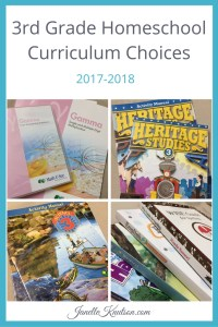 3rd Grade Homeschool Curriculum Choices 2017-2018