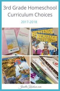 3rd Grade Homeschool Curriculum Choices 2017-2018
