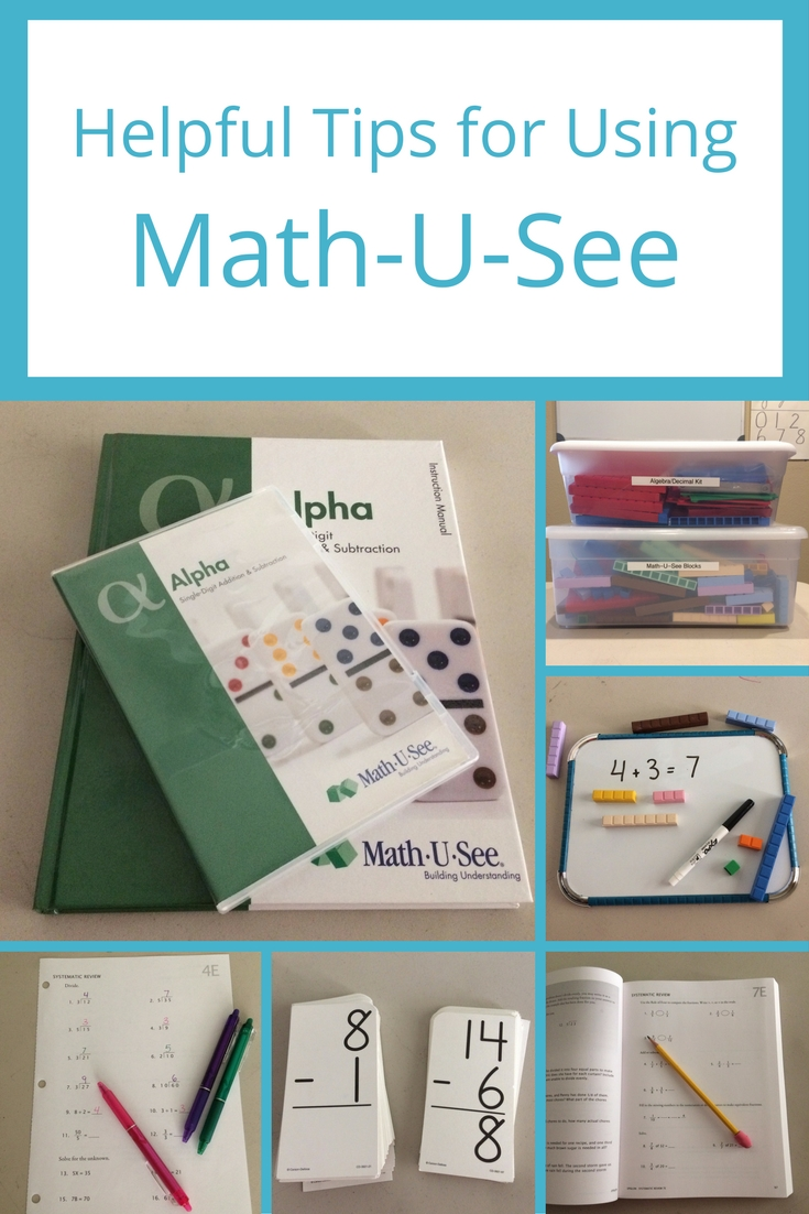 Some helpful tips for using Math-U-See.