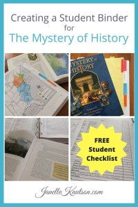 Creating a Student Binder for The Mystery of History