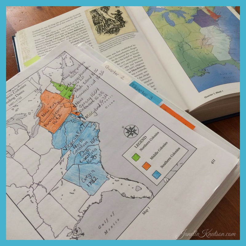 The Mystery of History map work