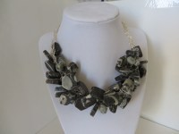 Black and White Serpentine Necklace & Earrings   Janell ...