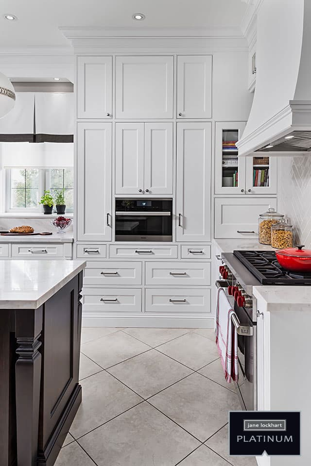 designing kitchen cabinets islands kitchens jane lockhart interior design white cabinetry with built in microwave and gas stove