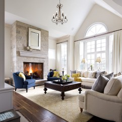 Blue Chair Living Room English Country Rooms Photos Family Jane Lockhart Interior Design