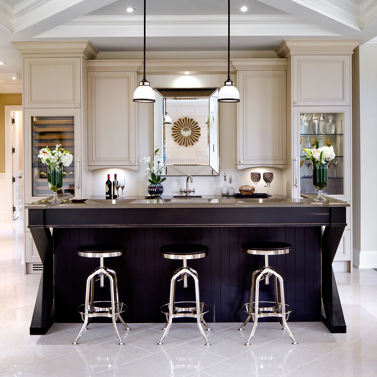 kitchen desing brushed nickel pendant lighting kitchens jane lockhart interior design