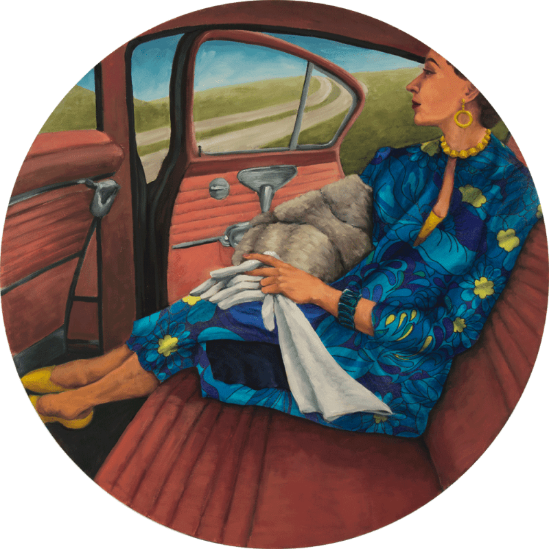 jane richlovsky contemporary art painting figurative art pattern vintage car midcentury modern