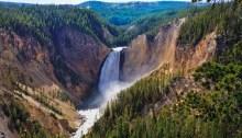 Yellowstone Falls - Grand Canyon of the Yellowstone - Yellowstone National Park, Montana (MT).