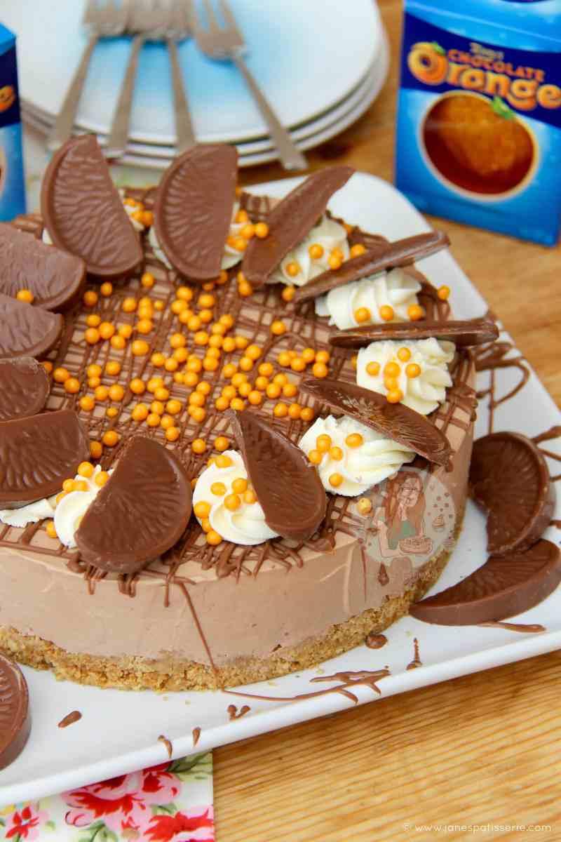 No-Bake Terry's Chocolate Orange Cheesecake!