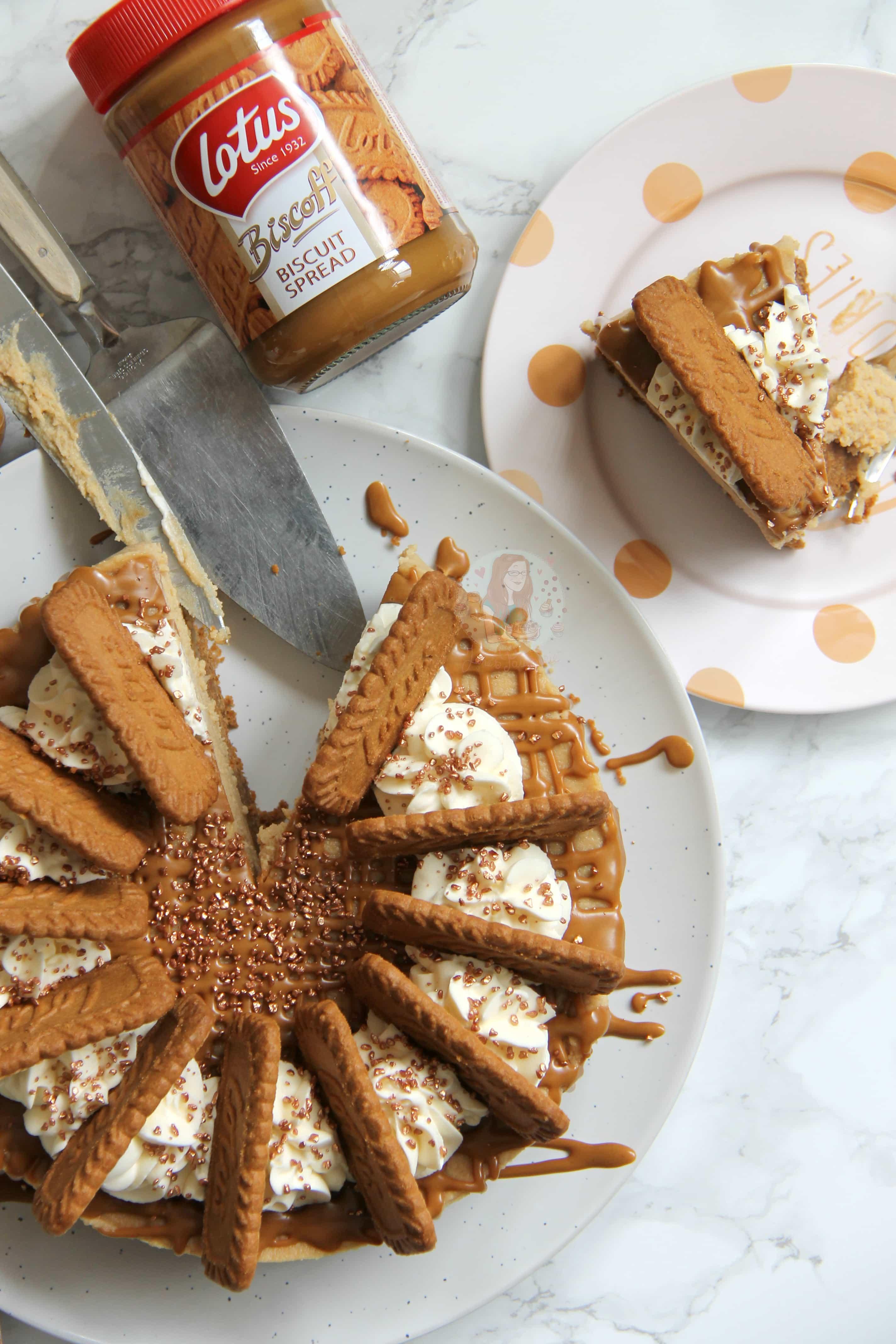 kitchen aide food processor art decor no-bake biscoff cheesecake! - jane's patisserie