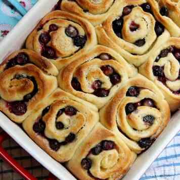 Lemon & Blueberry Sweet Rolls!