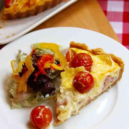 Bacon, Brie & Tomato Quiche