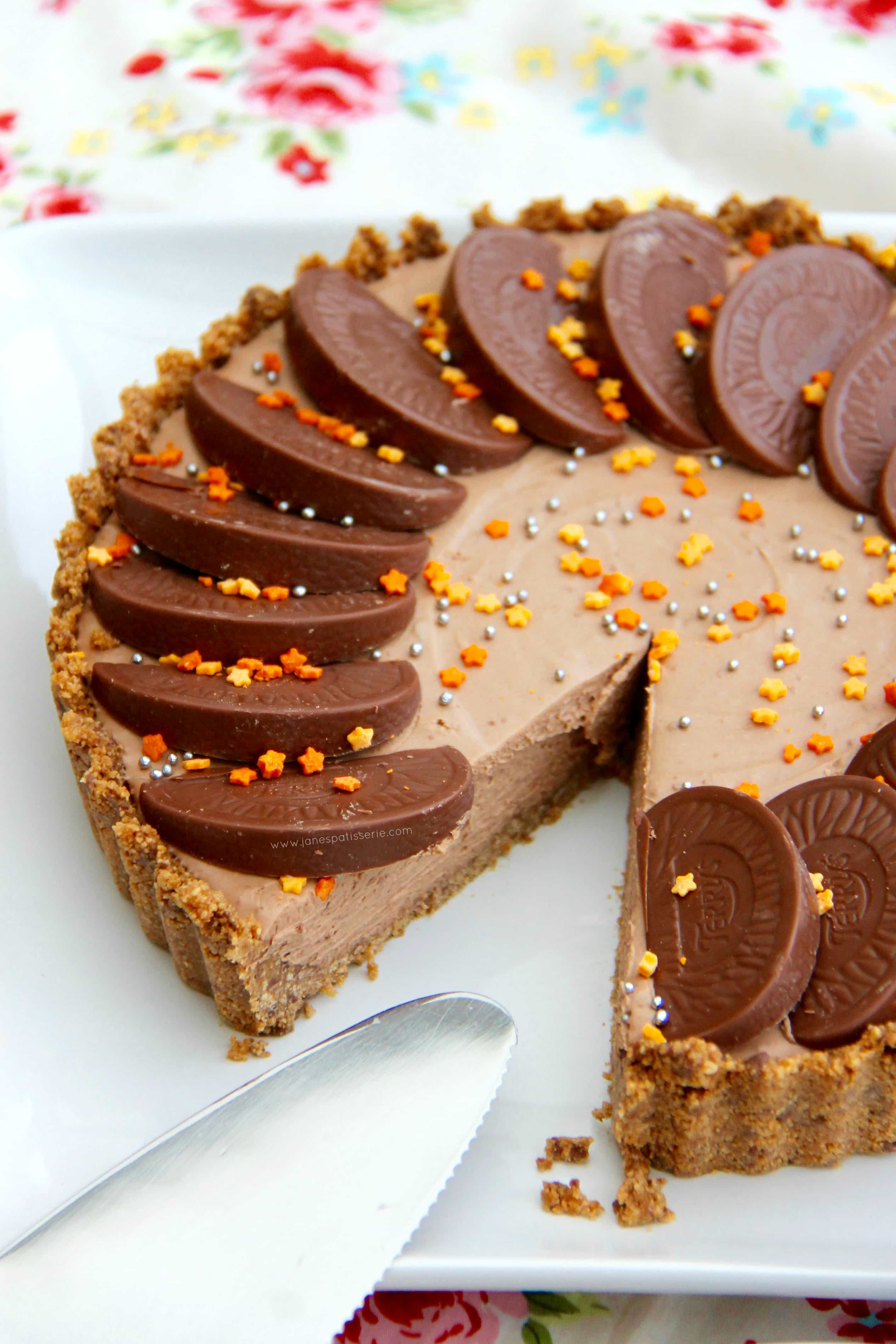 No-Bake Terry's Chocolate Orange Tart! - Jane's Patisserie
