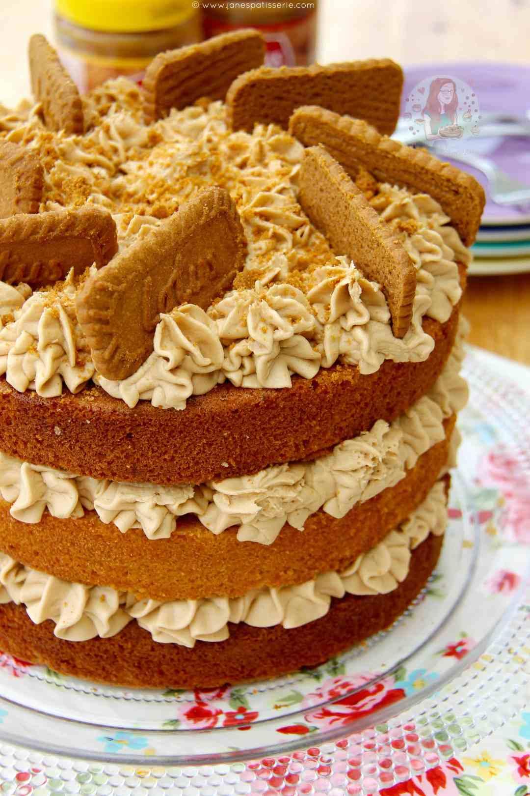 Biscoff Biscuit Cake Recipe
