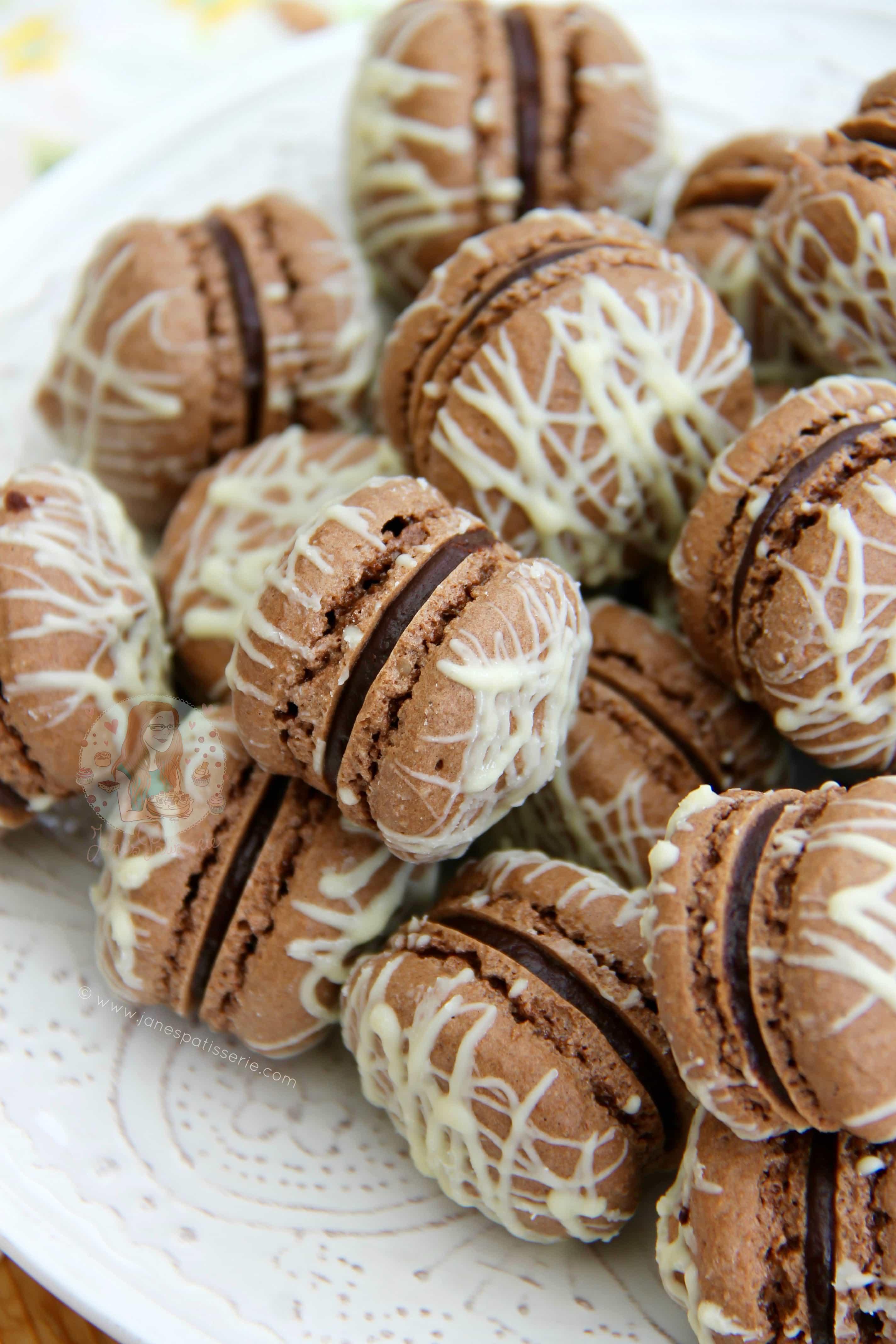 Triple Chocolate Macarons! - Jane's Patisserie
