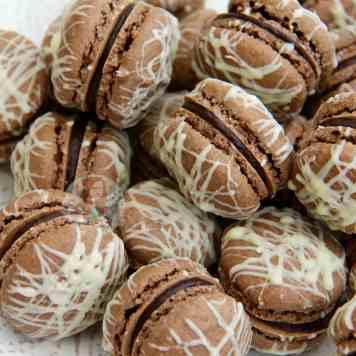 Triple Chocolate Macarons!