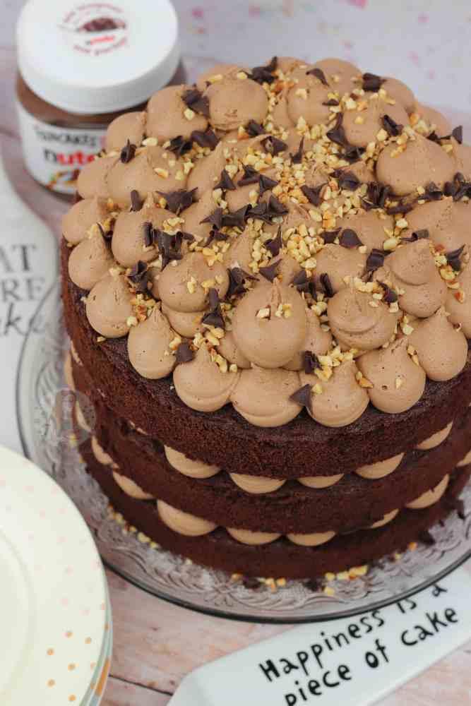 Groovy Nutella Cake Janes Patisserie Funny Birthday Cards Online Benoljebrpdamsfinfo