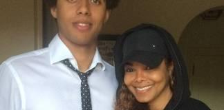 Janet Jackson and godson Tyler Harris at his graduation