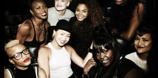 Janet Jackson and dancers at J Cole Concert in Los Angeles