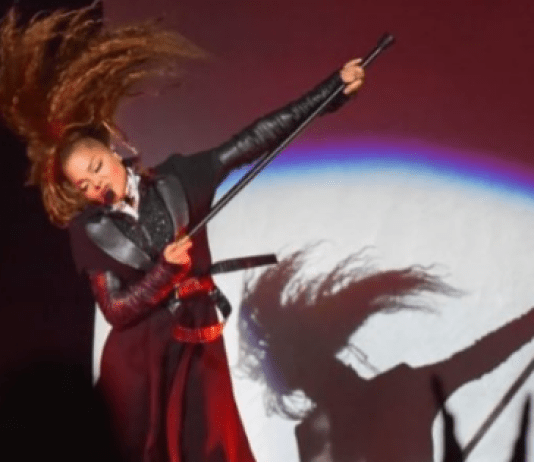 Janet Jackson performs in Lafayette Louisana on State Of The World Tour