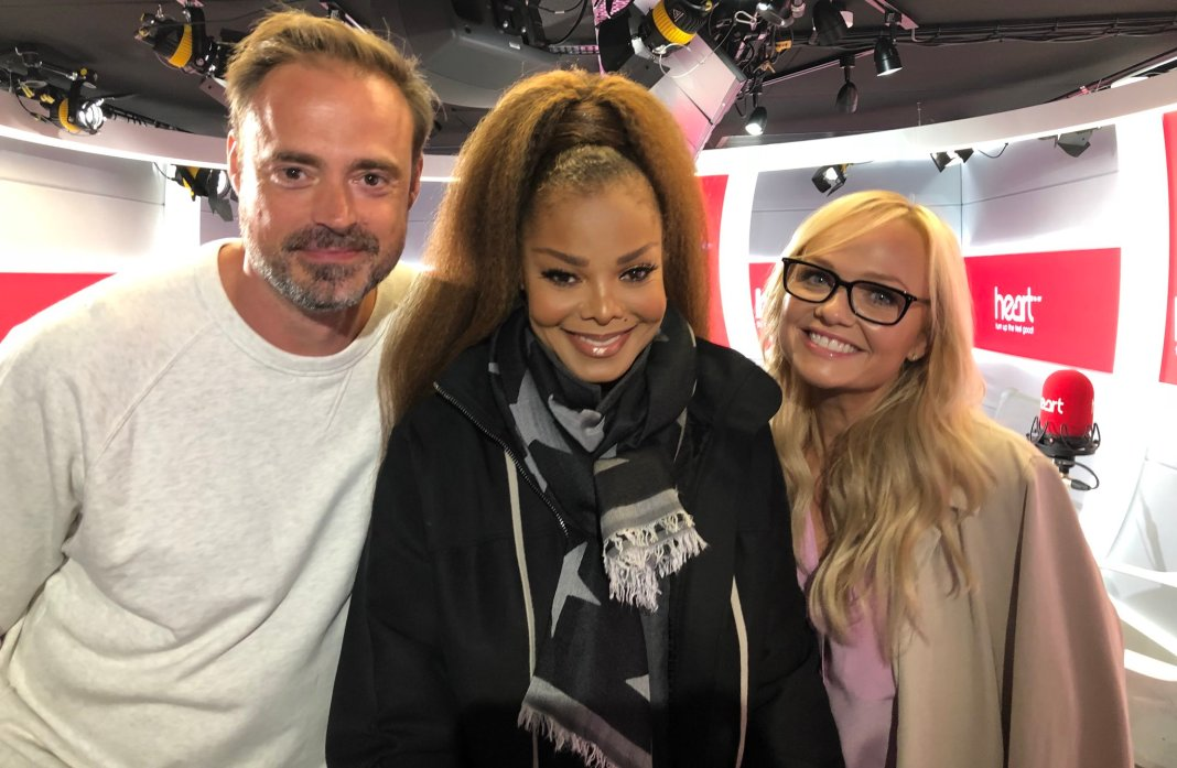 Janet Jackson, Spice Girls Emma Bunton and Jamie Theakston