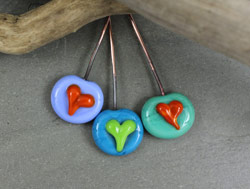 Hearts Headpins by Janet Crosby