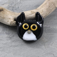 Cat Face Bead - janetcrosby.com