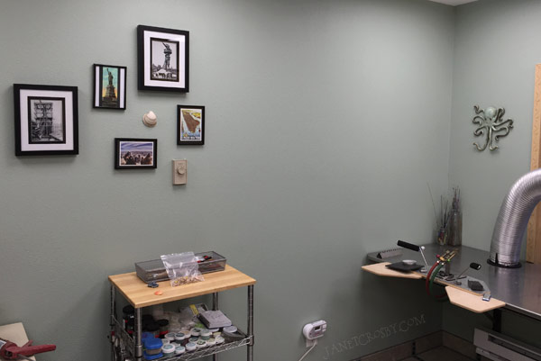 Bare spot on my studio wall