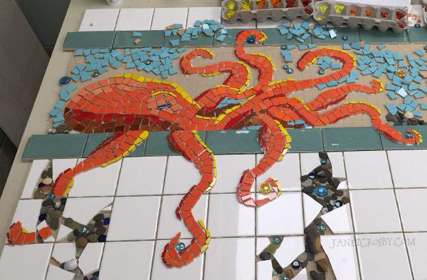Octopus Mosaic - JanetCrosby.com