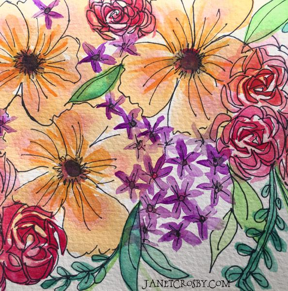More watercolor-pen explorations