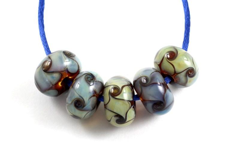 Basket weave bead set by Janet Crosby
