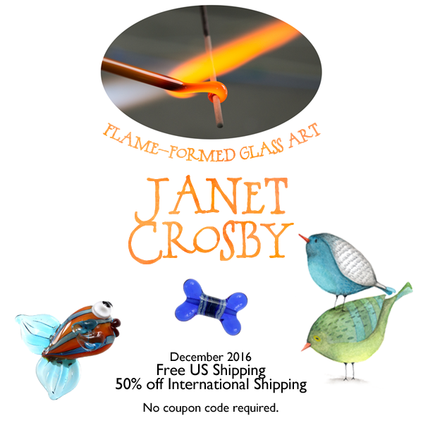 Free Shipping December 2016 - www.JanetCrosby.com/shop