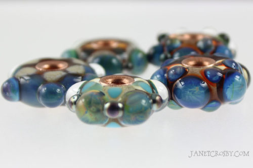 Silver Dot Beads with Copper Cores - janetcrosby.com