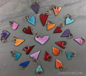 Enameled Hearts by Janet Crosby
