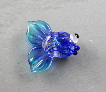 Blue Filigrana Fish by Janet Crosby