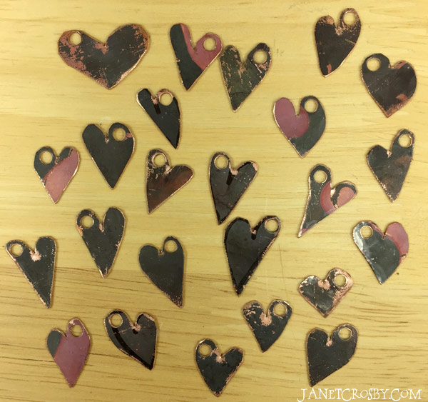 Fresh Cut Copper Hearts - janetcrosby.com