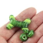Green Swirl Bone Set by Janet Crosby