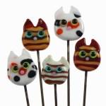 5 Garden Kitties by Janet Crosby