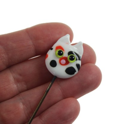 Calico Cat Garden Stake by Janet Crosby