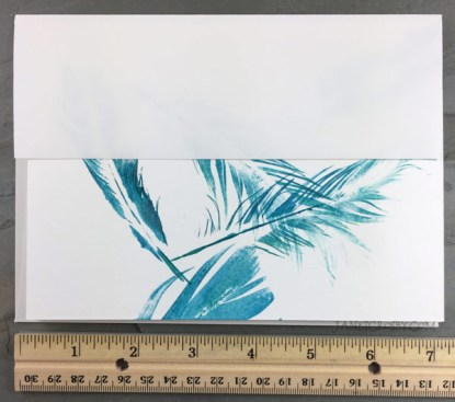 Hand-printed Feather Card Showing Envelope Size