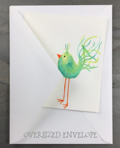 Bird Notecard With Envelope by Janet Crosby