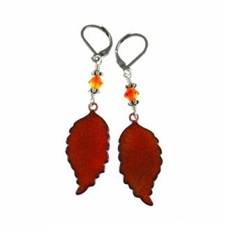Fall Leaves Earrings by Janet Crosby