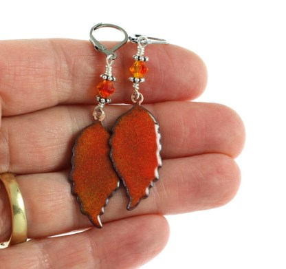 Fall Leaves Earrings by Janet Crosby