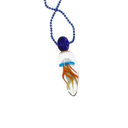 Encased Jellyfish Necklace by Janet Crosby